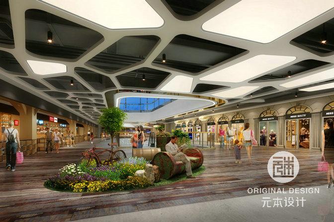 一系列有创意的天花,地面,灯光,软装等设计,给商业空间带来不一样的